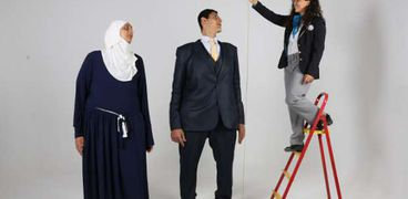قياس طول الشقيقان محمد وهدى