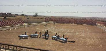قوات أمن مطروح خلال استعراض التدريبات
