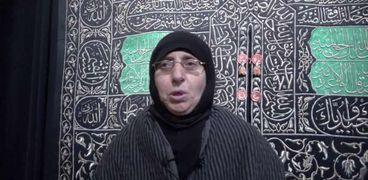 السيدة ثريا محمد خلال زيارتها لمتحف الحضارة في أول يوم عمل له بعد موكب المومياوات الملكية