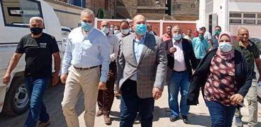 نائب محافظ الجيزة يتابع تنفيذ مشروع محطة مياه الشرب بقري كرداسه