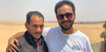 بيتر ميمي مع البطل محمد علي موسى