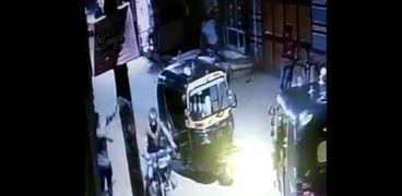 لقطة من مقطع فيديو جريمة قتل المنوفية