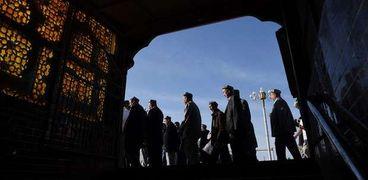 مجموعة من مسلمي الإيجور في شينجيانج بالصين
