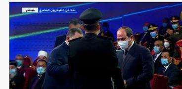 الرئيس السيسي خلال احتفالية عيد الشرطة