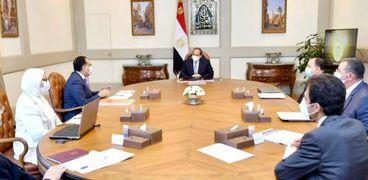 الرئيس السيسي خلال اجتماعه اليوم