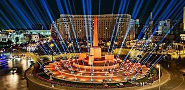 ميدان التحرير يتزين استعداد لانطلاق موكب مومياوات ملوك الفراعنة