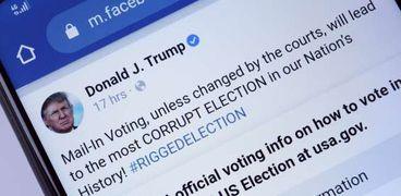 فيسبوك تحدد مصير الرئيس الأمريكي السابق دونالد ترامب على منصاتها