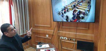 مراقبة لجان جامعة كفر الشيخ بالكاميرات