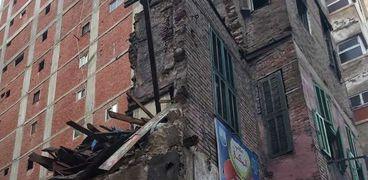 انهيار منزل بالإسكندرية