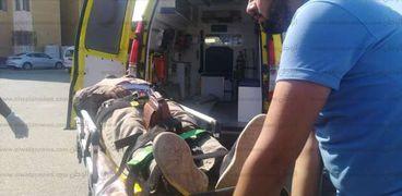 بالاسماء..اصابة 10 اشخاص في انقلاب سيارة ميكروباص بترعة بسوهاج