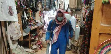 أعمال تعقيم سوق ليبيا بمطروح