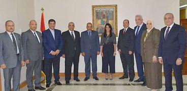 اللجنة العليا للحج خلال لقائها وزيرة السياحة