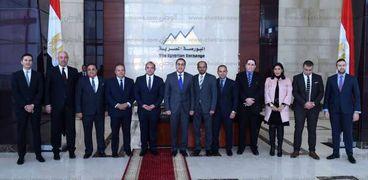 بالصور  رئيس الوزراء يلتقي أعضاء مجلس إدارة البورصة