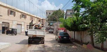 """حملات تطهير وتعقيم شوارع كفر الشيخ لمواجهة"""" كورونا"""""""