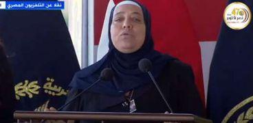 والدة الشهيد ملازم أول محمد كريم أحمد ضيف