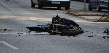حادث دراجة نارية .. أرشيفية