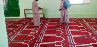 أعمال تعقيم المساجد قبل صلاة الجمعة