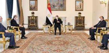 السيسي يستقبل وزراء خارجية عرب