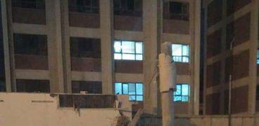 انهيار سقف صالة مغطاه للمصارعة وسط الإسكندرية
