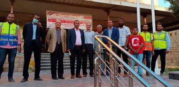 رئيس جامعة أسوان يفتتح قاعة الرسم بهندسة أبو الريش