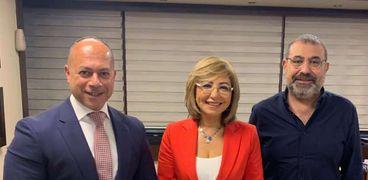 لميس الحديدي مع تامر مرسي