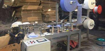 مصنع الكمامات المخالف بالقليوبية