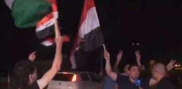 احتفالات في فلسطين بعد وقف إطلاق النار بين إسرائيل والفصائل الفلسطينية في قطاع غزة
