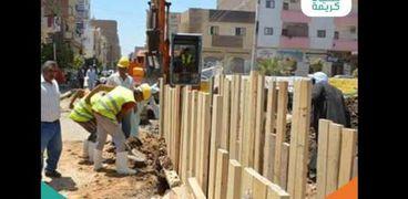أعمال مبادرة حياة كريمة بمحافظة سوهاج