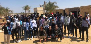 زيارة الطلاب الألإارقة بكتبة الإسكندرية لمحمية وادي الريان