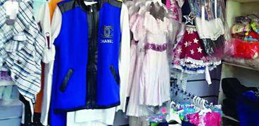 معرض الملابس الذى أقامه الأهالى للأطفال الأيتام