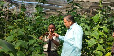 رئيس جامعة كفر الشيخ بالمزرعة التعليمية