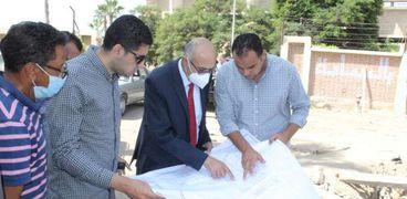 رئيس جامعة طنطا يتفقد الأعمال الإنشائية للمدن الجامعية