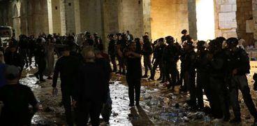 اقتحام قوات الاحتلال الإسرائيلية لـ«المسجد الأقصى المبارك»