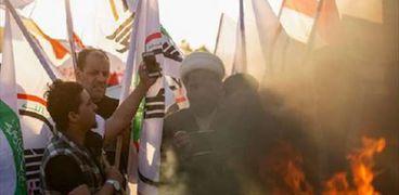 احتجاجات فى العراق