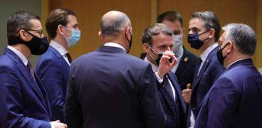 آخر لقاء للرئيس الفرنسي مع القادة الأوروبيين