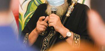 البابا تواضروس الثاني بابا الإسكندرية، بطريرك الكرازة المرقسية اثناء لقائه مع شباب الدارسين في الخارج