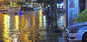 الإسكندرية بعد سقوط الأمطار