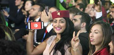 تونسية شاركت فى إحدى فعاليات منتدى شباب العالم
