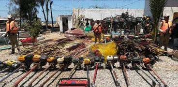 محافظ كفرالشيخ يتابع حملة إزالة التعديات على بحيرة البرلس