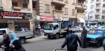 صور ..تحرير 342 مخالفةإشغال ومرافق وإغلاق 45 كافيه ومحل تجاري بالغربية