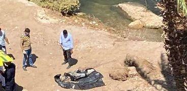 انتشال جثة من النيل _ ارشيفية