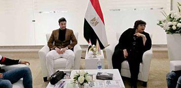 تريزيجيه خلال لقائه بوزيرة الثقافة الدكتورة إيناس عبد الدايم