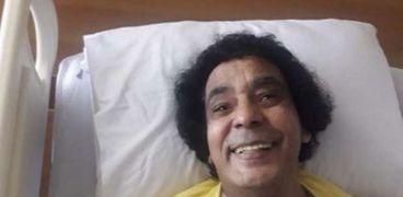 محمد منير داخل المستشفى- صورة أرشيفية