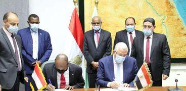 وزيرا الزراعة المصري والسوداني