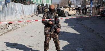 أحد مواقع الهجمات على الشرطة الأفغانية
