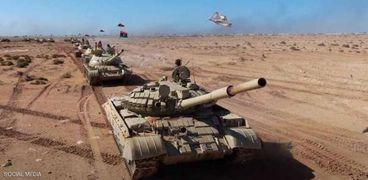 اللواء 106 مُجحفل نفذ مناورة عسكرية ميدانية