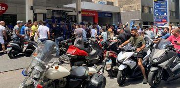 محطة بنزين في لبنان