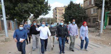 محافظ المنوفية يتفقد أعمال رصف الشوارع في شبين الكوم «صور»