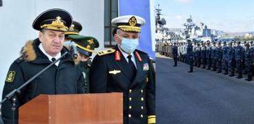 انطلاق التدريب البحري المصري الروسي المشترك