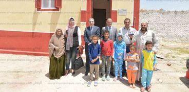 تطوير وتنمية 15 منزلا لأسر غير قادرة بقرية الشافعي في بني سويف